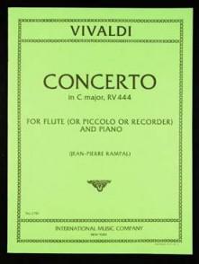 VIVALDI A. CONCERTO DO MAJEUR RV 444 FLUTE
