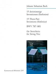 BACH J.S. 15 THREE-PART INVENTIONS BWV 787-801 TRIO A CORDES