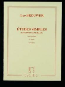 BROUWER L. ETUDES SIMPLES 1RE SERIE GUITARE