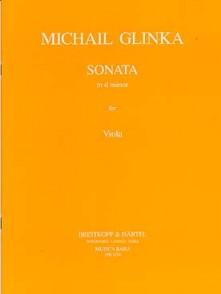GLINKA M. SONATE EN RE MINEUR ALTO