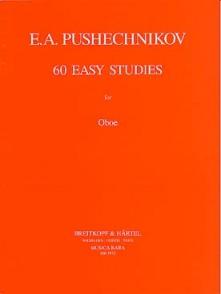 PUSHECHNIKOV E. A. 60 EASY STUDIES HAUTBOIS