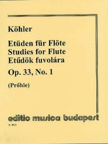 KOHLER E. ETUDES OP 33 VOL 1 FLUTE