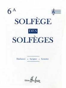 SOLFEGE DES SOLFEGES VOL 6A 2 CLES AVEC PIANO