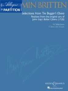 BRITTEN B. SELECTIONS FROM BEGGAR'S OPERA CHANT PIANO