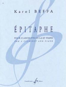 BEFFA K. EPITAPHE CLARINETTE LA