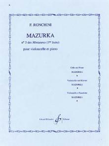 RONCHINI F. MAZURKA N°5 VIOLONCELLE