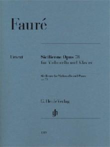 FAURE G. SICILIENNE OP 78 VIOLONCELLE
