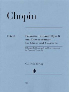 CHOPIN F. POLONAISE BRILLANTE - DUO CONCERTANT VIOLONCELLE