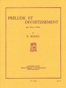 BOZZA E. PRELUDE ET DIVERTISSEMENT SAXO MIB OU CLARINETTE SIB