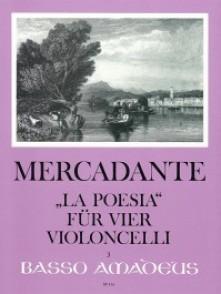 MERCADANTE G.S. LA POESIA 4 VIOLONCELLES