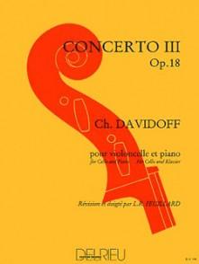 DAVIDOFF K. CONCERTO N°3 OP 18 VIOLONCELLE
