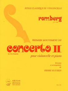 ROMBERG B. CONCERTO OP 3 N°2 VIOLONCELLE