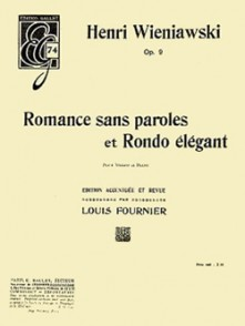 WIENIAWSKI H. ROMANCE SANS PAROLES - RONDO OP 9 VIOLON