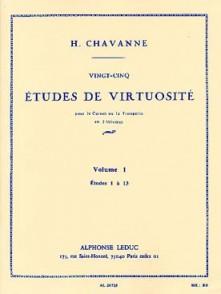 CHAVANNE H. 25 ETUDES DE VIRTUOSITE VOL 1 TROMPETTE