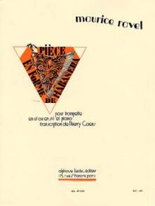 RAVEL M. PIECE EN FORME DE HABANERA TROMPETTE