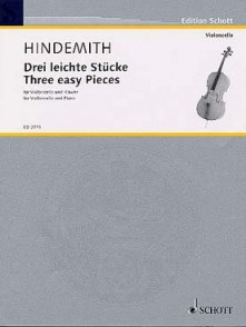 HINDEMITH P. 3 EASY PIECES VIOLONCELLE
