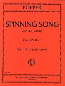 POPPER D. SPINING SONG OP 55 N°1 VIOLONCELLE