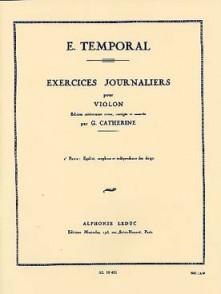 TEMPORAL E. EXERCICES JOURNALIERS VOL 2 VIOLON
