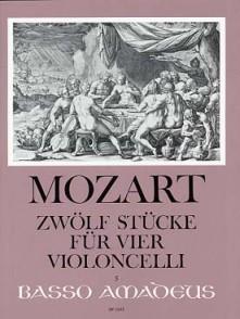 MOZART W.A. 12 STUCKE VIOLONCELLES