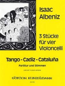 ALBENIZ I. 3 STUCKE VIOLONCELLES