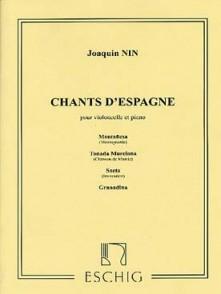 NIN J. CHANTS D'ESPAGNE VIOLONCELLE