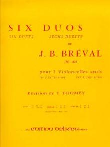 BREVAL J.B. 6 DUOS VOL 2 VIOLONCELLES