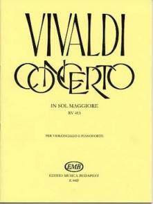 VIVALDI A. CONCERTO SOL MAJEUR VIOLONCELLE