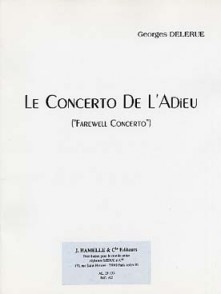 DELERUE G. CONCERTO DE L'ADIEU VIOLON