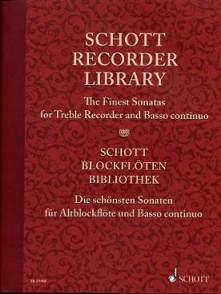 SCHOTT RECORDER LIBRARY FLUTE A BEC ALTO