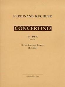 KUCHLER F. CONCERTINO RE MAJEUR OP 14 VIOLON