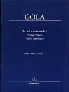 GOLA VIOLIN TECHNIQUE VOL 1 VIOLON