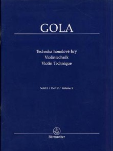 GOLA VIOLIN TECHNIQUE VOL 2 VIOLON