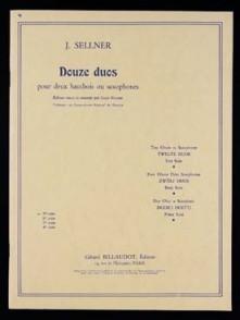 SELLNER J. 12 DUOS VOL 1 HAUTBOIS/SAXO