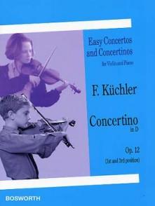 KUCHLER F. CONCERTINO RE MAJEUR OP 12 VIOLON