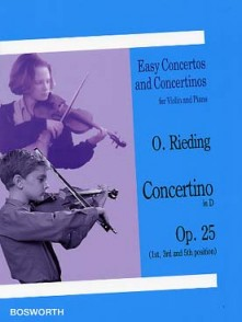 RIEDING O. CONCERTINO OP 25 RE MAJEUR VIOLON
