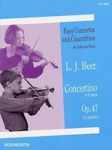 BEER L.J. CONCERTINO MI MINEUR OP 47 VIOLON