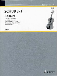 SCHUBERT F. CONCERTO C MAJOR ALTO