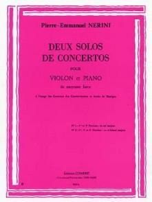 NERINI P.E. SOLOS DE CONCERTOS VIOLON