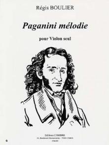 BOULIER R. PAGANINI MELODIE VIOLON SOLO