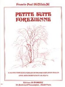 DEMILLAC F.P. PETITE SUITE FOREZIENNE VIOLON