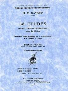 KAYSER H.E. ETUDES OP 20 VOL 3 VIOLON