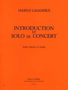 CASADESUS F. INTRODUCTION ET SOLO DE CONCERT VIOLON