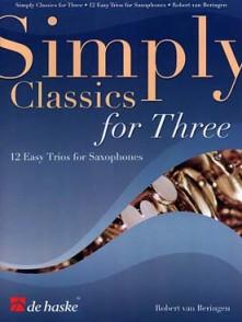 SIMPLY CLASSICS FOR THREE SAXOPHONES