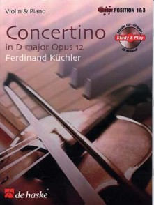 KUCHLER F. CONCERTINO RE MAJEUR OP 12 VIOLON