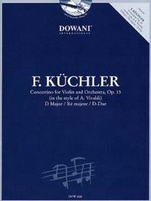 KUCHLER F. CONCERTINO OP 11 VIOLON + CD