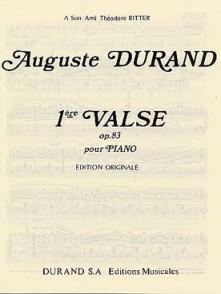 DURAND A. 1RE VALSE OP 83 PIANO
