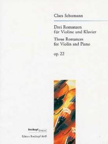 SCHUMANN-WIECK C. 3 ROMANCES OP 22 VIOLON
