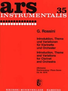 ROSSINI G. INTRODUCTION, THEME ET VARIATIONS CLARINETTE