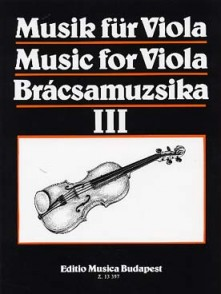 MUSIC FOR VIOLA VOL 3