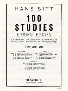 SITT H. 100 STUDIES OPUS 32 VOL 1 VIOLON